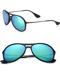 Ray-Ban Pilot 59Mm Mirrored Sunglasses green - Lyst