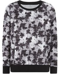Robert Rodriguez Floral Print Sweater - Lyst