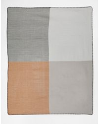Asos Oversized Square Scarf In Colour Block - Lyst