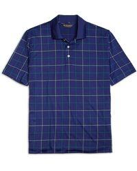 Brooks Brothers St Andrews Links Windowpane Polo Shirt - Lyst