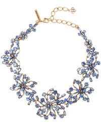 Oscar de la Renta Crystal Firework Collar Necklace - Lyst