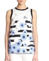 Mother Of Pearl Holton Floral & Stripe Print Tank - Lyst