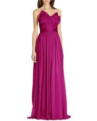 Notte By Marchesa Silk Chiffon Strapless Gown - Lyst