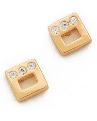 Gorjana Ryder Shimmer Stud Earrings - Gold - Lyst