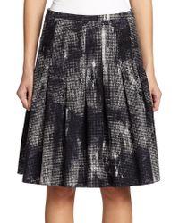Akris Punto Pixel-Print Flared Skirt - Lyst