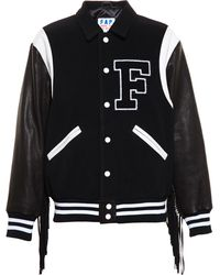 Filles A Papa - Fringed Bomber Jacket - Lyst