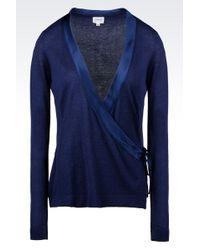 Armani Cardigan in Silk and Cashmere - Lyst