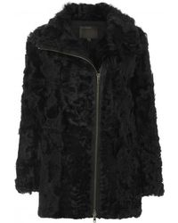 Muubaa Vinta Black Shearling Coat - Lyst