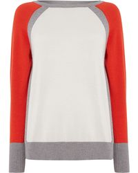 Pied A Terre Colour Block Sweater - Lyst