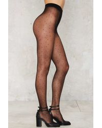 Nasty Gal | Connect The Dots Sheer Tights | Lyst