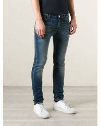 Closed Blue Skinny Jeans - Lyst