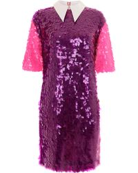 House Of Holland Purple Sequin Tunic - Lyst