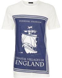 Burberry Prorsum Villages Of England T-Shirt - Lyst