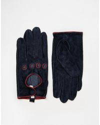 Pieces - Suede Cutout Gloves - Lyst