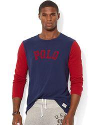 Polo Ralph Lauren Jersey Baseball Shirt - Lyst