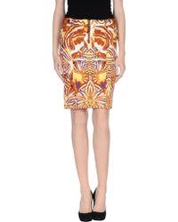 Just Cavalli Denim Skirt - Lyst