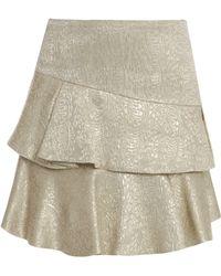 Paul & Joe Lk36 Brocade Ruffle Skirt - Lyst