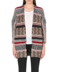 Maje Knitted Wool Blend Cardigan - Lyst