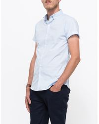 Topman Short Sleeve Light Blue Bd blue - Lyst