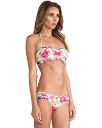 Seafolly Paradiso Bandeau Bustier Bikini Top - Lyst