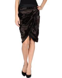 Gucci Knee Length Skirt - Lyst