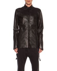 Alexandre Plokhov Leather Shirt - Lyst