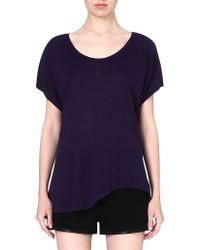 Enza Costa Asymmetrichem Jersey Tshirt Twilight - Lyst