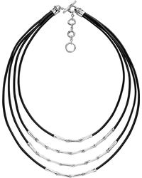 John Hardy | Bamboo Silver Four Row Necklace | Lyst