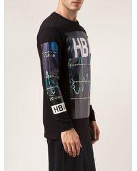 Hood By Air Black Graphic T-shirt - Lyst