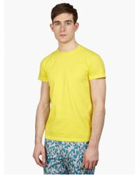 Jil Sander Men'S Yellow Cotton T-Shirt - Lyst