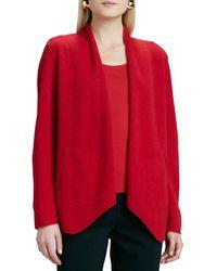 Eileen Fisher Merinowool Open Jacket - Lyst