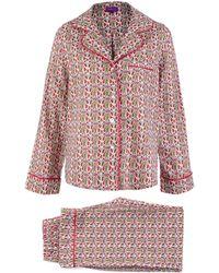 Liberty | Pink Mauverina Cotton Long Pyjama Set | Lyst