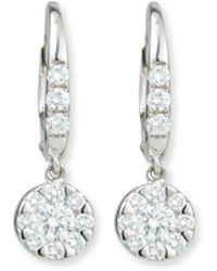 Rina Limor - Flower Diamond Dangle Earrings - Lyst