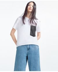 Zara | T-shirt With Pocket | Lyst