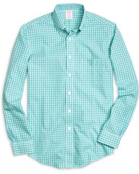 Brooks Brothers Non-Iron Brookscool® Madison Fit Small Plaid Sport Shirt - Lyst