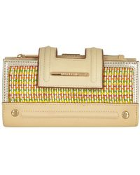 River Island Beige Woven Panel Tab Top Purse - Lyst