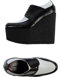 Celine Black Lace-Up Shoes - Lyst