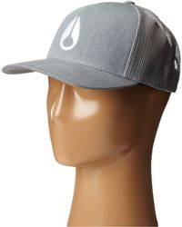 Nixon Iconed Trucker Hat - Lyst