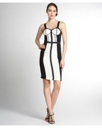 Rebecca Minkoff Navy And Cream Silk Bustier Top Sleeveless 'Clarissa' Dress - Lyst