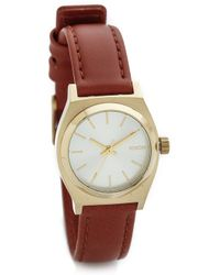 Nixon Small Time Teller Watch - Light Gold/Saddle - Lyst