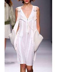 Vanessa Bruno Bymba Granite Dress Blanc - Lyst