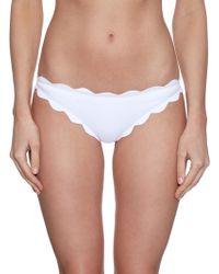 Marysia Swim Antibes Scallop-Edge Bikini Briefs white - Lyst
