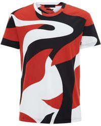 Alexander McQueen Abstract Shape T-Shirt - Lyst