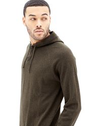 Forever 21 - Hooded Henley Sweater - Lyst