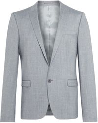 The Idle Man Suit Jacket In Skinny Fit - Grey - Lyst