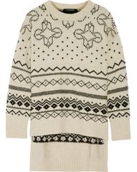 Thakoon - Fair Isle Oversized Merino Wool-blend Sweater - Lyst