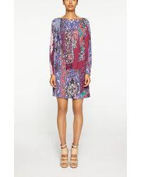 Nicole Miller Magic Carpet Shift Dress multicolor - Lyst