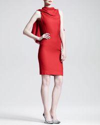 Gareth Pugh Triangle Draped Backless Dress - Lyst