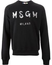 MSGM Embroidered Logo Sweatshirt - Lyst