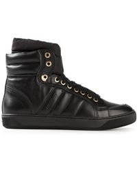 Moncler Padded Hi-top Sneakers - Lyst